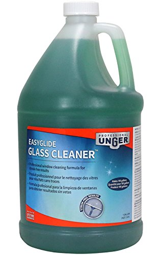 Unger Professional Streak-Free EasyGlide Glass Cleaner Concentrate (Makes 100 Gallons), 1 Gallon