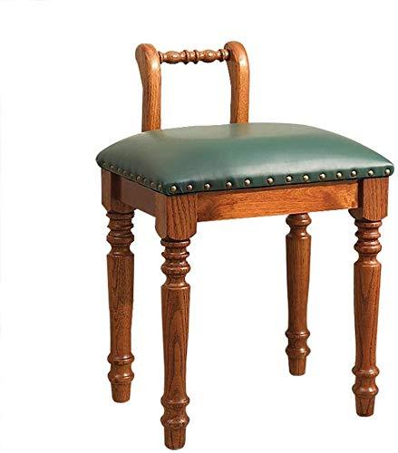 WEIJINGRIHUA - Sgabello per divano, sgabello imbottito, per il trucco, sedia per pianoforte barocco, colore: verde
