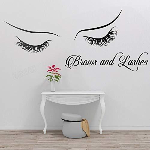 Pestaña etiqueta de la pared salón de belleza mujer cara etiqueta de la pared chica pestaña ceja decoración de la pared sala de estar arte