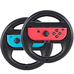 powerful ABMSNO Racing Game Steering Wheel Handle – Suitable for Nintendo Switch Mario Kart, Joy-Con Steering…