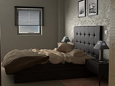 Cabecero tapizado en tejidos polipiel o tela adaptable a cualquier tipo de cama y de sencilla limpieza. Cabezal acolchado con espuma HR, fabricado manualmente de tacto suave y agradable. Cabecero de cama para dormitorios juveniles y de matrimonio. Co...