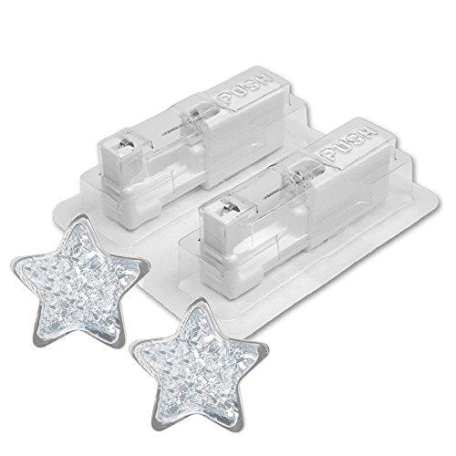 1 Paar STUDEX Medizinische Ohrstecker Stern Glitter weiß 4mm