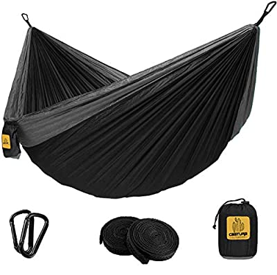 Castura Camping Hammock Double & Single with Tree Straps,Portable Hammocks for Indoor Outdoor Backpacking Survival Travel Beach Hiking