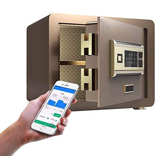 TQMB-A Caja fuerte de seguridad con wifi, huellas digitales, estilo de seguridad, antirrobo, mesita de noche, objetos de valor, de acero antiestático, caja fuerte
