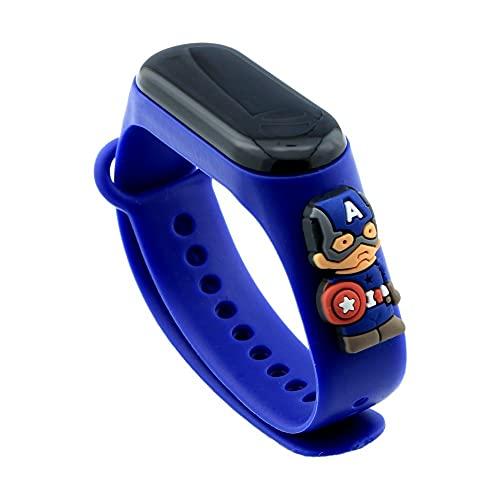 Reloj digital pulsera de silicona niño niña deportivo dibujos animados (amarillo)