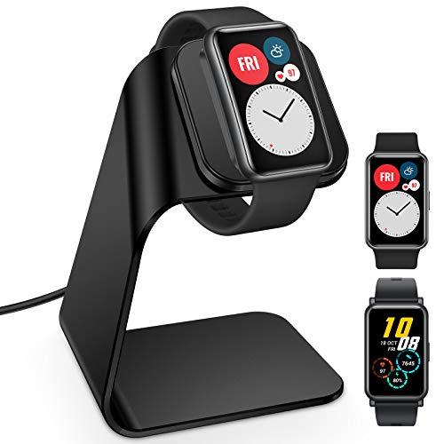 KIMILAR Compatibile con Honor Band 6   Huawei Watch Fit Honor Watch ES Caricatore, Cavo di Ricarica in Alluminio di Alta Caricabatterie Compatibile con Honor Watch ES Huawei Watch Fit, Nero