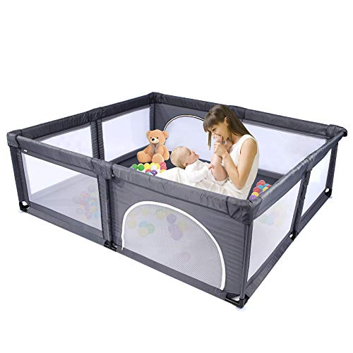 Baby playpen, Extra Large playard,78.7 Length 70.9 Width inch Sturdy Safetyplaypen for Babies, Indoor Outdoor Anti-Fall playpens, Fence for Toddlers, Portable Kids Safety Play Center