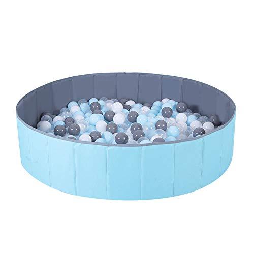 Moonvvin Kids Ballspielbecken Grube Faltbar Kinder Ocean Ball Pool Spielen Double Layer Oxford Cloth Bällebad Indoor und Outdoor (Blau + Grau)