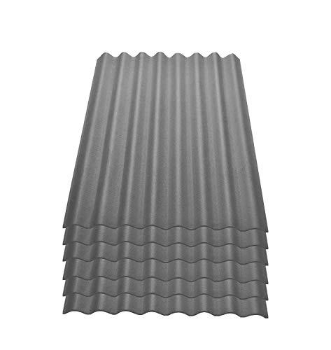 Onduline Easyline Dachplatte Wandplatte Bitumenwellplatten Wellplatte 6x0,76m² - grau