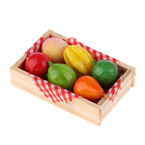 HomeDecTime Estilo Aleatorio de La Fruta de La Casa de Muñecas de La Etiqueta Engomada del
