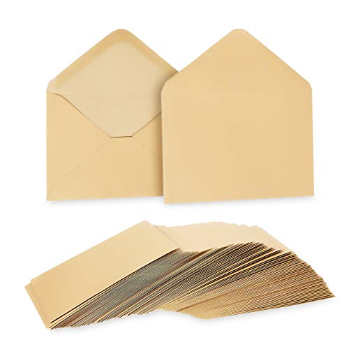 Juvale A6 Kraft Invitation Envelopes for 4x6 Cards (100 Count), 4.75 x 6.5 Inches