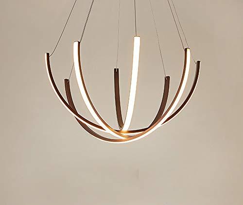 Lampe suspension LED moderne minimaliste lustre pour salon, salle à manger, appartement, lampe 3 flammig design en métal acrylique Lampe suspension suspension, marron, Dimmbar