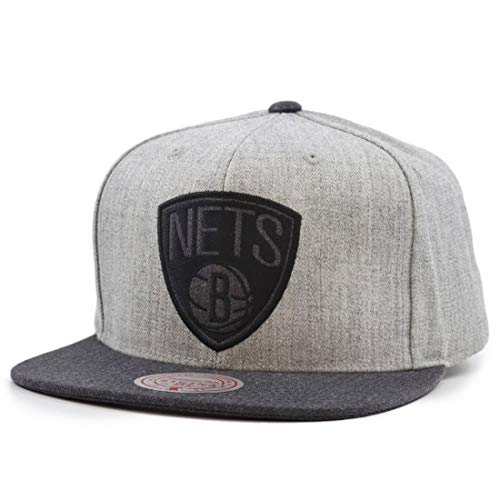 Mitchell & Ness Dual Heather Brooklyn Nets - Gorra, color gris