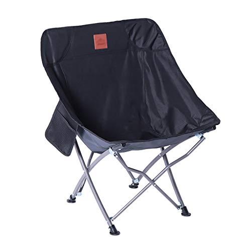Lw outdoor lichte campingstoel, opvouwbaar, draagbaar, hoge vrijetijdsstoel/tuinstoel, opvouwbaar