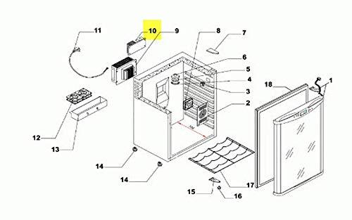 PLATINE ELECTRONIQUE REP-12 POUR REFRIGERATEUR CLIMADIFF - 77040011