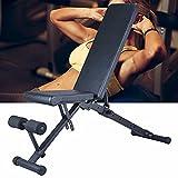 Panca multifunzione per sollevamento pesi, pieghevole, panca da allenamento regolabile, panca inclinata per fitness, panca obliqua, antiscivolo, allenamento addominale e schiena