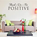 Do Be Positive Vinyl Decal Wall Sticker Words Letters Home Decor Quote Art 57X18Cm