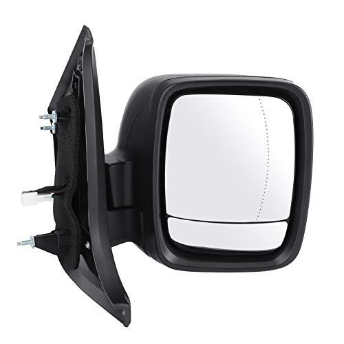 WAQU Espejo retrovisor de Coche-Espejo de ala eléctrico 7640 Cristal retrovisor Derecho para el Lado del Conductor Apto para Renault Trafic 15-20