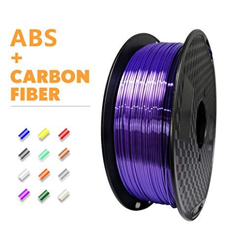 Logo ABS Filament 1.75mm 3D Printer Filament 1KG 2.2LBS Spool 3D Printing Material Strength Than 3D Filament (Color : Black)