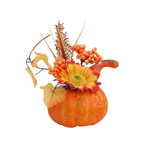 SHSH Halloween Künstliche Kürbis Dekorationen Tisch Ornamente für Halloween Thanksgiving Herbst Dekoration Thanksgiving Dekoration,Kürbis für Herbst, Halloween Home Draussen Party (B)