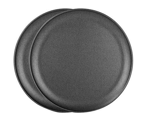 G&S Metal Products Company ProBake Non-Stick Teflon Xtra Pizza Baking Pan, Set of 2, Charcoal