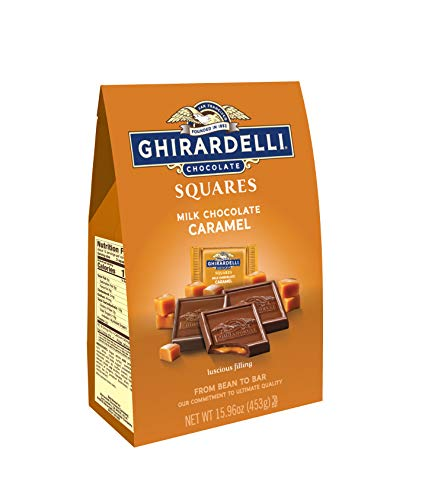 Ghirardelli Milk and Caramel Squares XL Bag 1596 Ounce