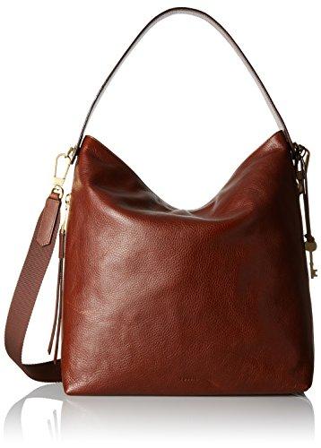Fossil Women's Maya Leather Large Hobo Handbag, Brown