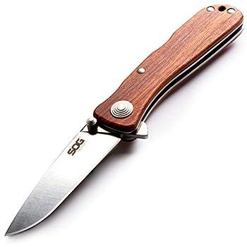 SOG TWI17-CP Twitch II 6.20 Inch Wood Pocket Knife