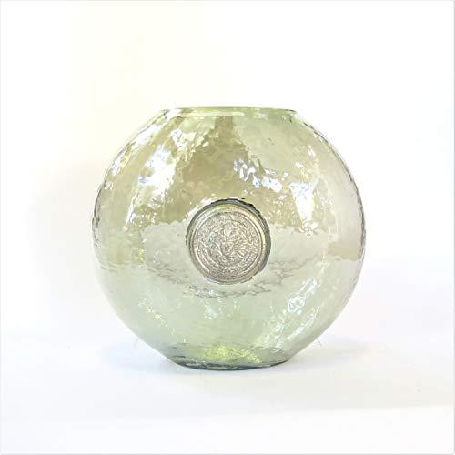 Colmore Vase Glasvase Dekovase Modern Rund Grün 24 x 14 x 23 cm
