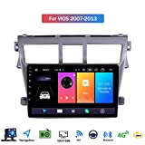 9 Inch Touch Screen 2 Din Android 9.1 Car Stereo for Toyota Vios 2007-2013 Radio with GPS Navigation Built in DSP FM RDS Support Bluetooth/SWC/Mirror Link,4 core,4G+WiFi: 1+16GB