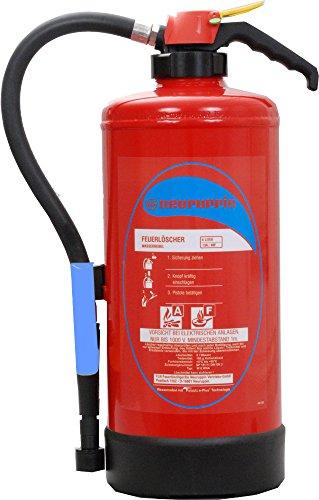 AF Wassernebellöscher FLN Neuruppin W6 WNA Aufladelöscher auch Fettbrand (Instandhaltungsnachweis Feuerlöscher-Tauschsystem)