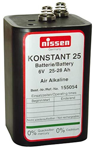 4R25 6V 25-28Ah Batterie Blockbatterie Trockenbatterie Ersatz für Nissen Laternenbatterie IEC 4R25