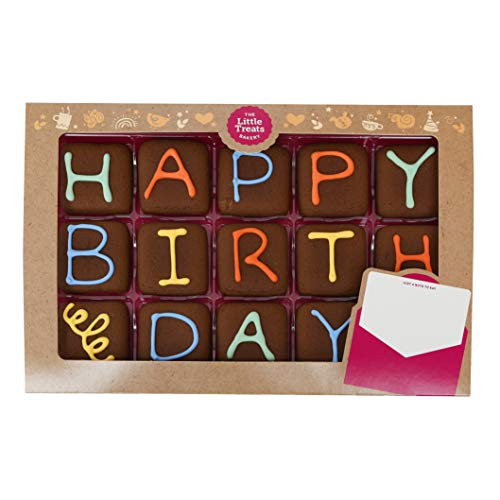 Happy Birthday Iced Chocolate Biscuits Gift - Say It with Biscuits