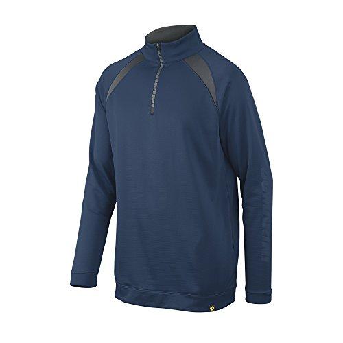 DeMarini Youth 1/2 Zip Heater Fleece Jacket, Navy, Small