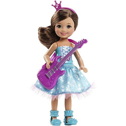 Barbie CKB70 - Eine Prinzessin im Rockstar Camp - Chelsea Puppe blau mit Gitarre