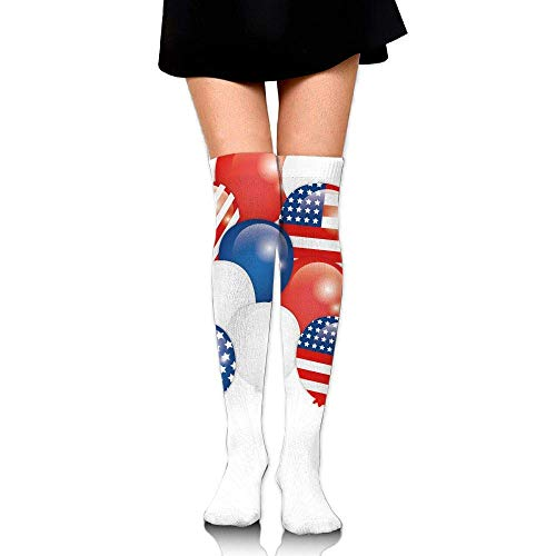 knie sokken, vrouwen sterren en strepen ballon drukt buis sokken over de knie dij hoge kousen voor meisjes 65 cm/25.6