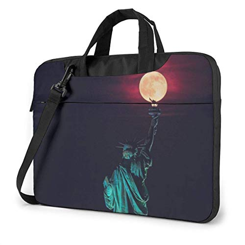 15.6″Lightweight Laptop Notebook Shoulder Backpack Bag Statue of Book US Waterproof PC Briefcase Messenger with Strap