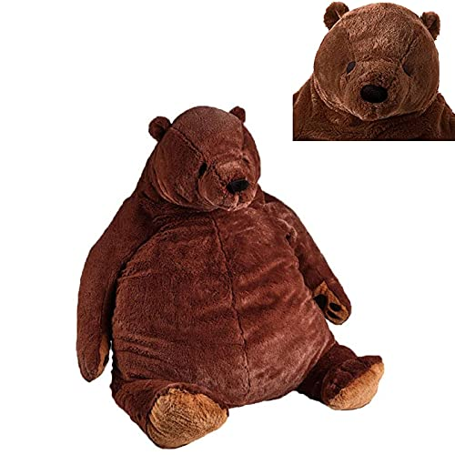 Giant simulation bear toy plush toy, brown teddy bear stuffed animal toy, Victorian Djungelskog bear toy, stuffed animal doll for soft cuddling bear (100cm)
