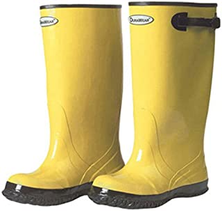 """Liberty DuraWear Rubber Fabric Lined Protective Slush Men's Boot with Top Strap and Buckle, 17"""" Height, Size 12, Yellow"""