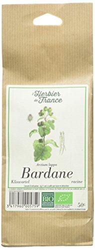 L'Herbier de France Bardane Racines Bio Sachet Kraft, 50 gramme