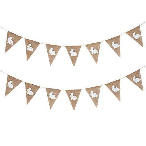 Wollaston 1 Stück (7 Blatt) 8.2Feet Osterhasen Banner Party Hochzeitsflaggen Exquisite Dekorationen,1 Pcs(7 Sheet) 8.2Feet Easter Bunny Banner Party Wedding Flags Exquisite Decorations