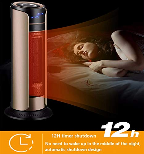 41vhx03QA5L - MZGN Fan Heater, Portable Electric Heater 2000W, with 3 mode, 0-12 Hrs Timer, 180°Oscillation & Overheat Protection Low…