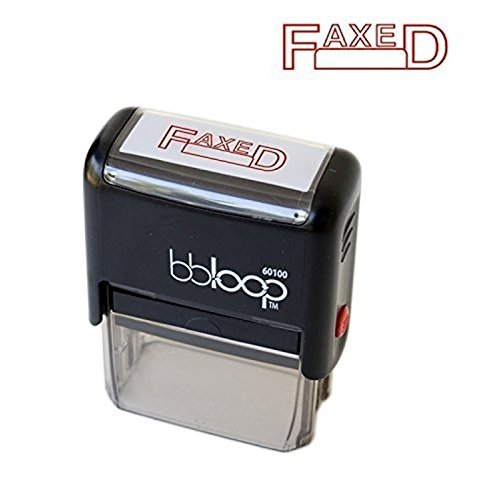 "BBloop Stamp""FAXED"" Self Inking, Rectangular. Laser Engraved. RED"