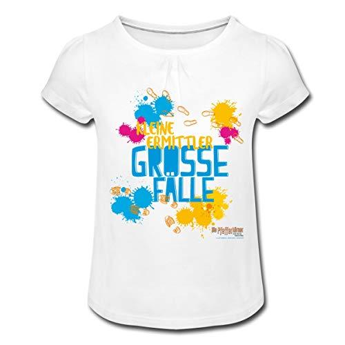 Pfefferkörner Kleine Ermittler, Grosse Fälle Mädchen T-Shirt mit Raffungen, 12 Jahre, Weiß