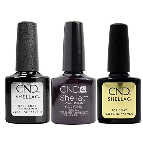 CND Original CND Shellac Dark Dahlia plus Base Coat plus Top Coat 7.3 ml, 1er Pack (1 x 22 ml)