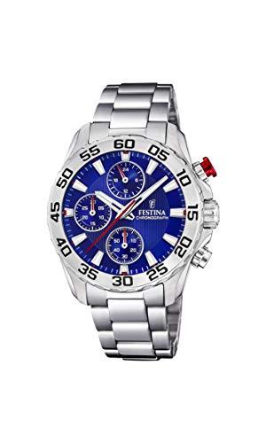 Festina Jungen Chronograph Quarz Uhr mit Edelstahl Armband F20457/2
