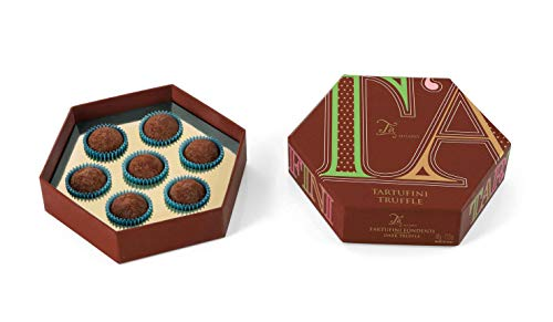 Ta Milano Caja Regalo con 7 trufas de Chocolate Negro - 60 gr