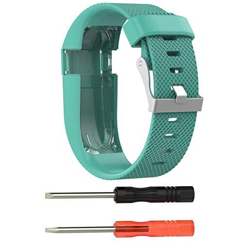 Ouneed® Für fitbit Charge HR Uhrenarmband Armband , Ersatz Silikonband Gummiband Wristband Armband für Fitbit Charge HR (Grün)