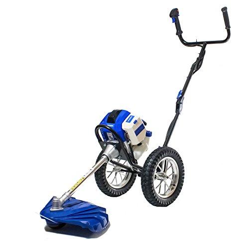 Hyundai HYWT5080 51 cc 2-Stroke Petrol Wheeled Push Garden Grass Trimmer/Strimmer
