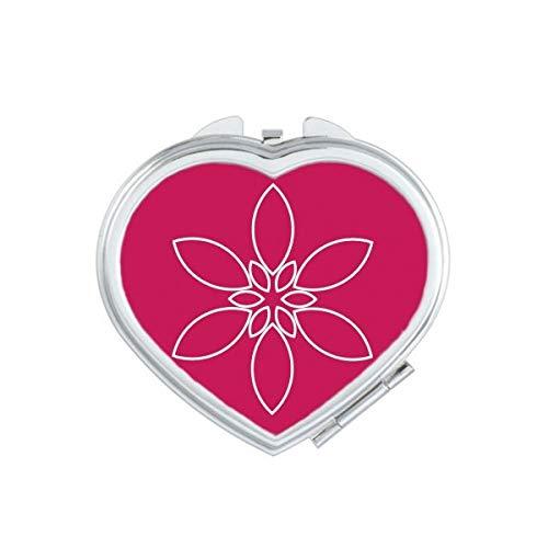 DIYthinker Fleur Pétale Flowe Motif Coeur Miroir de Maquillage Compact Portable Cute Cadeau Miroirs de Poche à la Main Multicolore